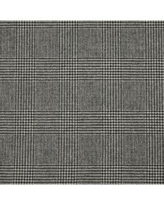 LAMBSWOOL COATING PRINCE OF WALES CHECK BLACK/WHITE