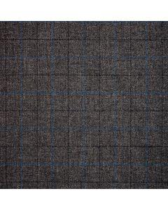 WOOL/COTTON/CASHMERE WINDOWPANE GREY/BLUE