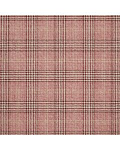 WOOL/COTTON/CASHMERE CHECK MAROON