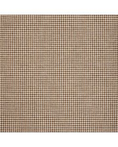 WOOL/COTTON/CASHMERE DOGTOOTH BROWN