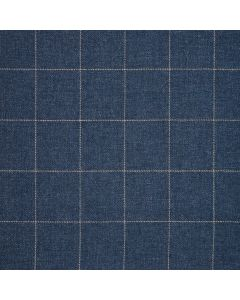 WOOL/COTTON/CASHMERE WINDOWPANE BLUE/WHITE