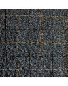 LAMBSWOOL JACKETING WINDOWPANE CHARCOAL