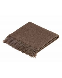 ALPACA CHOCOLATE THROW