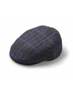 FLAT CAP MULTICHECK NAVY LARGE
