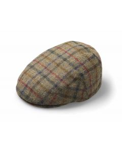 FLAT CAP MULTICHECK MOSS SMALL