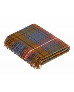 ANTIQUE BUCHANAN TARTAN THROW