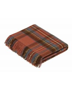 ANTIQUE ROYAL STEWART TARTAN THROW