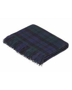 BLACK WATCH TARTAN THROW