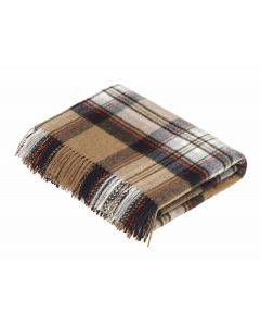 CAMEL STEWART TARTAN THROW