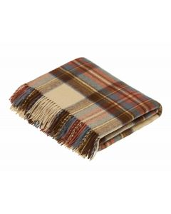 ANTIQUE DRESS STEWART TARTAN THROW