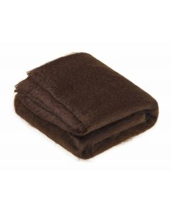 CHOCOLATE MOHAIR THROW