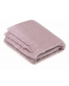 DUSKY PINK MOHAIR THROW