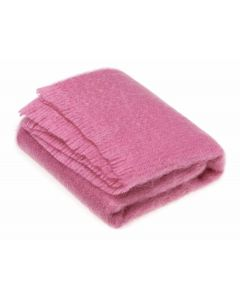 FUSCHIA PINK MOHAIR THROW