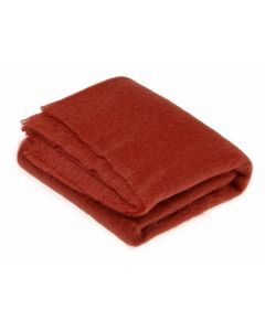 LACQUER RED MOHAIR THROW