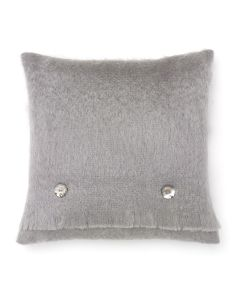 SEAL GREEN MOHAIR CUSHION