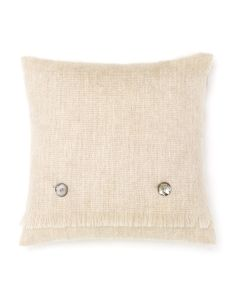 BLONDE MOHAIR CUSHION