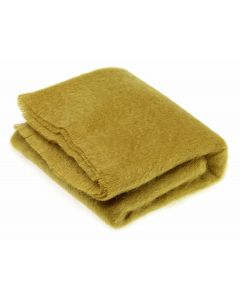 BURNT GOLD MOHAIR THROW