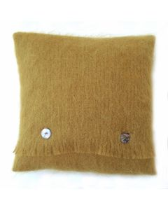 BURNT GOLD MOHAIR CUSHION