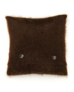 CHOCOLATE MOHAIR CUSHION