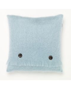 DUCK EGG MOHAIR CUSHION