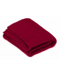 BERRY RED MOHAIR THROW