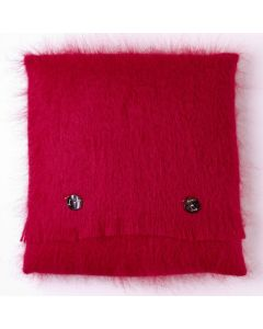 BERRY RED MOHAIR CUSHION