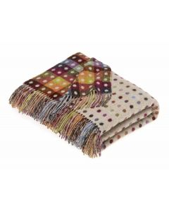BEIGE/MULTI SPOT CHECK THROW