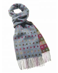 SPOT/CHECK TEAL MULTI SCARF