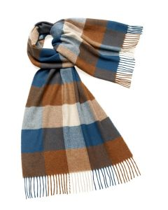 SLEDMERE TEAL/RUST 50CM STOLE