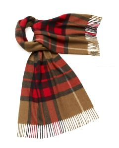 WESTMINSTER CAMEL/RED 50CM STOLE