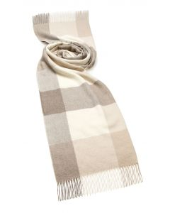 NATURAL/CAMEL CHECK ALPACA STOLE
