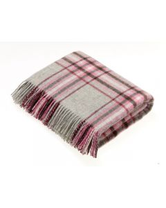 NATIONAL TRUST KILLERTON GREY/PINK THROW