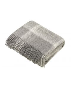 NATURAL OMBRE CHECK GREY THROW