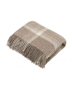 NATURAL OMBRE CHECK BROWN THROW