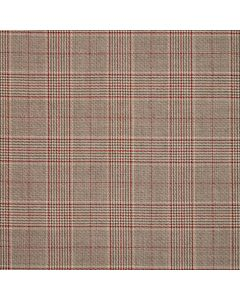 WORSTED JACKETING DOGTOOTH CHECK GREY/RED