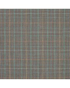 WORSTED JACKETING MIXED CHECK CHARCOAL/DENIM